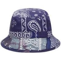Neighborhood Bandana Chopped Bucket Hat Navy