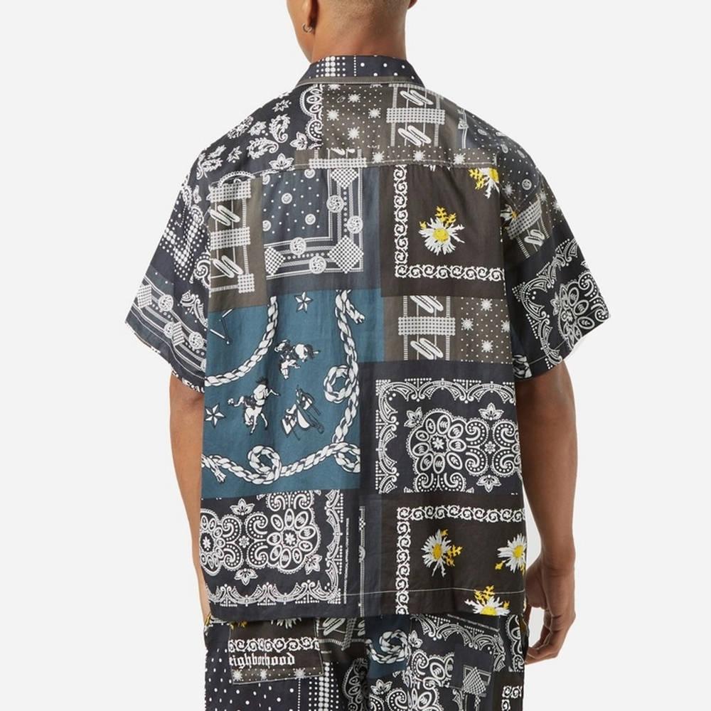 Neighborhood Bandana Patchwork Shirt Multi Back