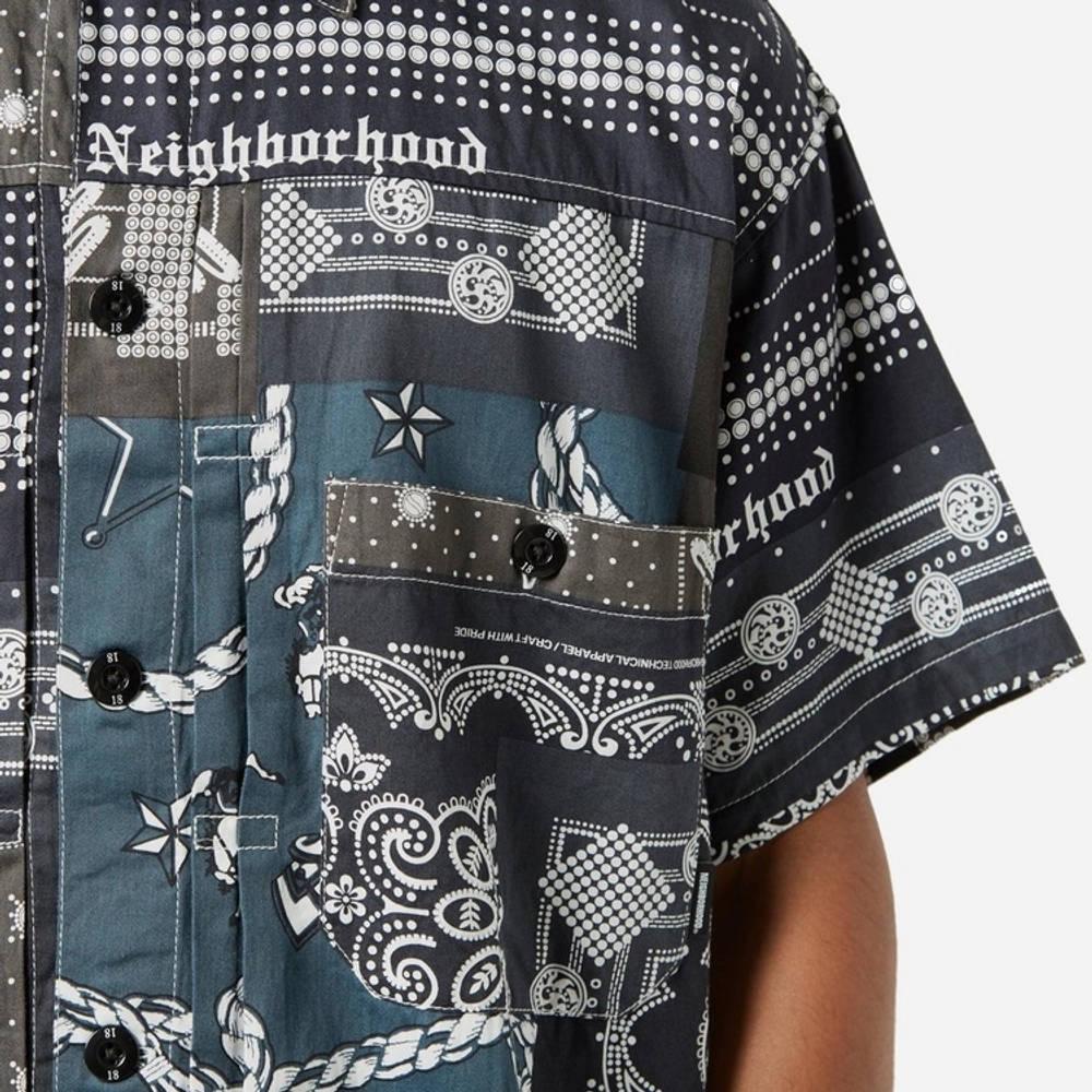 Neighborhood Bandana Patchwork Shirt Multi Detail 2