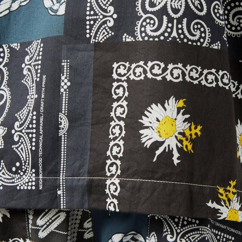 Neighborhood Bandana Patchwork Shirt Multi Detail