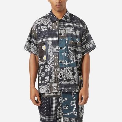 Neighborhood Bandana Patchwork Shirt Multi Front