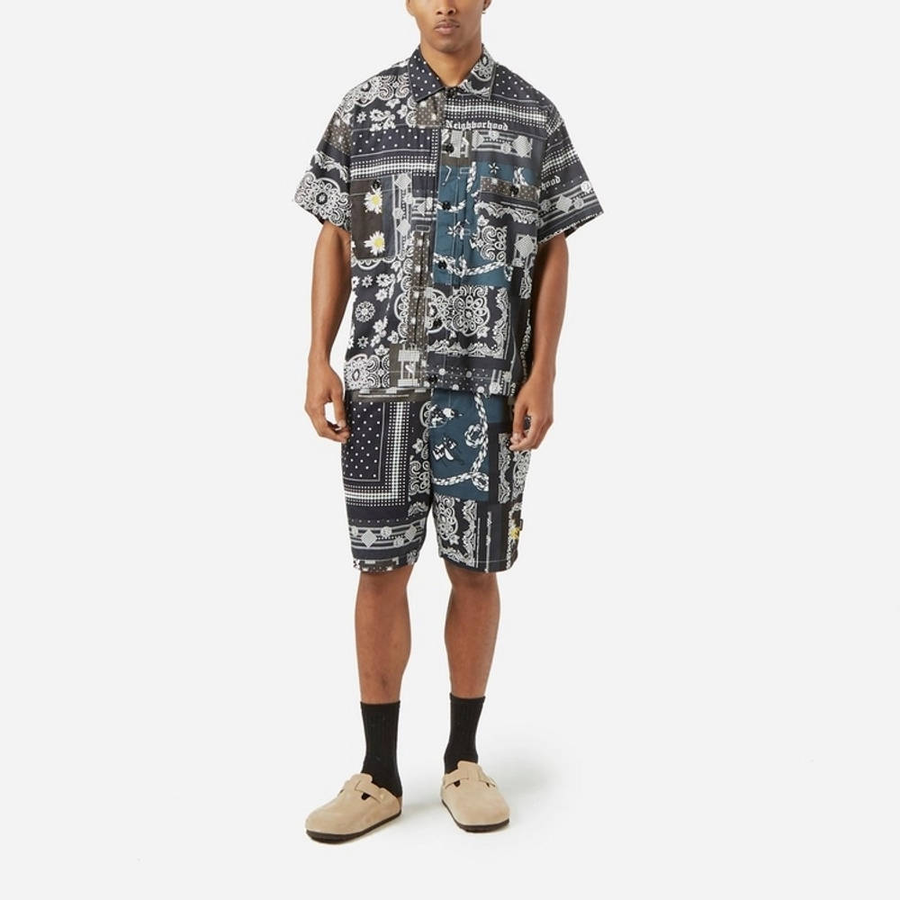 Neighborhood Bandana Patchwork Shirt Multi Full