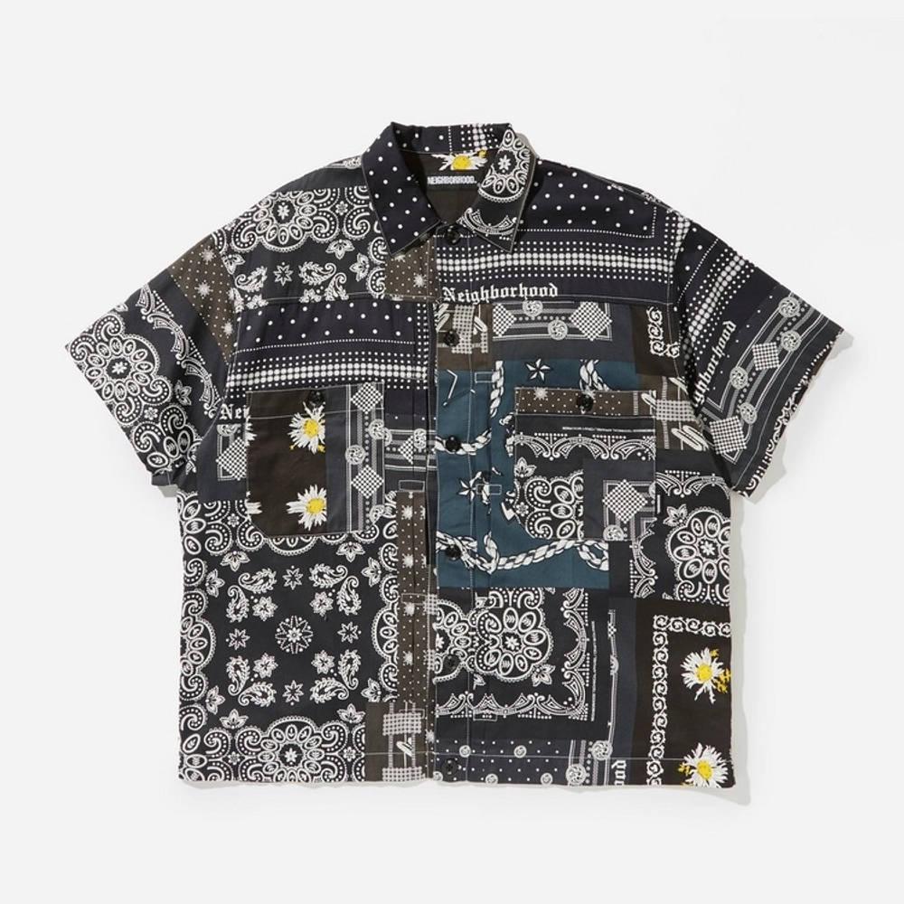 Neighborhood Bandana Patchwork Shirt Multi