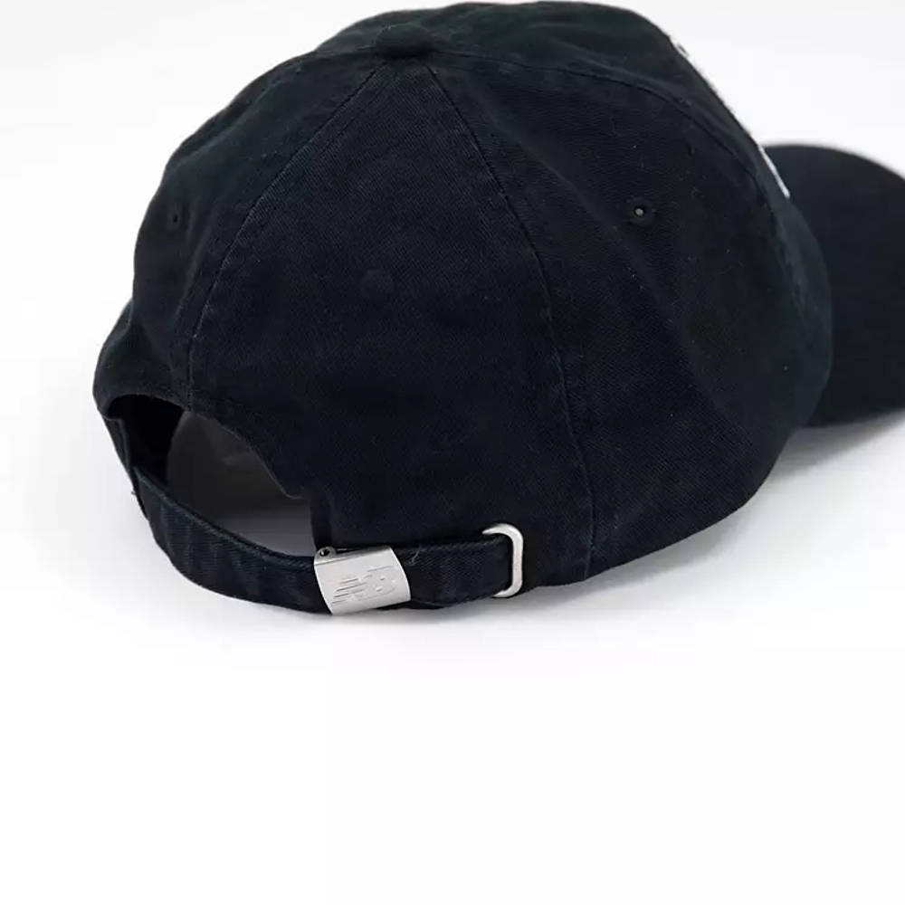 New Balance Collegiate Logo Baseball Cap Black Back