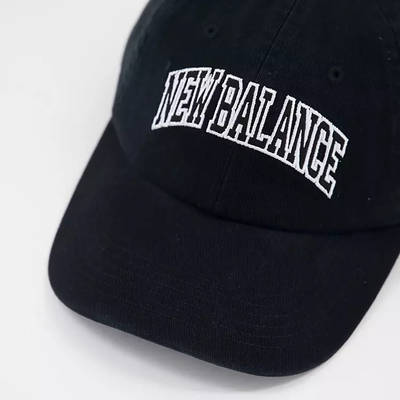 New Balance Collegiate Logo Baseball Cap Black Detail