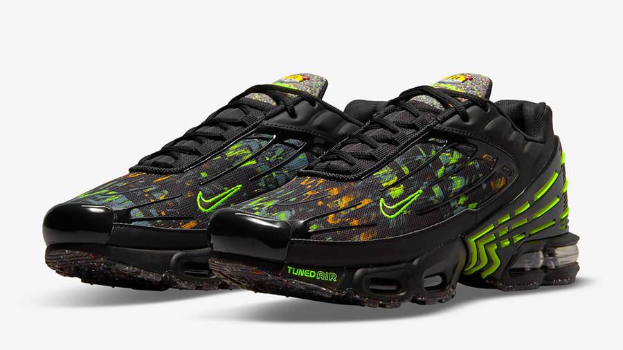 Nike Air Max Plus 3 Black Hazel Rush Volt DM9097-001 Side