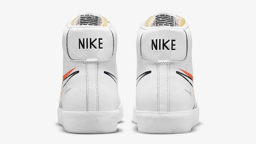 Nike Blazer Mid 77 Multi Swoosh White Team Orange DN7996-100 Back