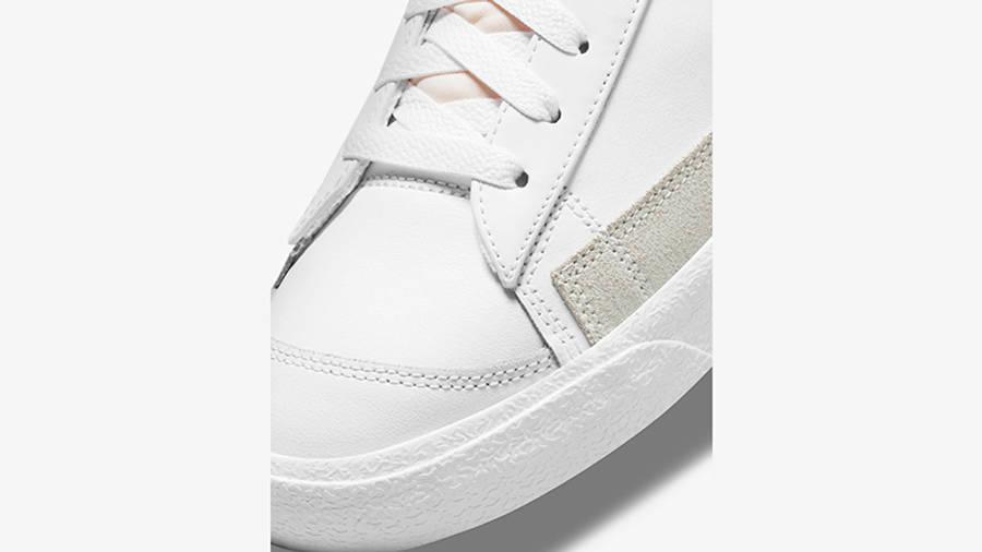 Nike Blazer Mid 77 Multi Swoosh White Team Orange DN7996-100 Detail