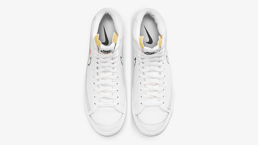 Nike Blazer Mid 77 Multi Swoosh White Team Orange DN7996-100 Top