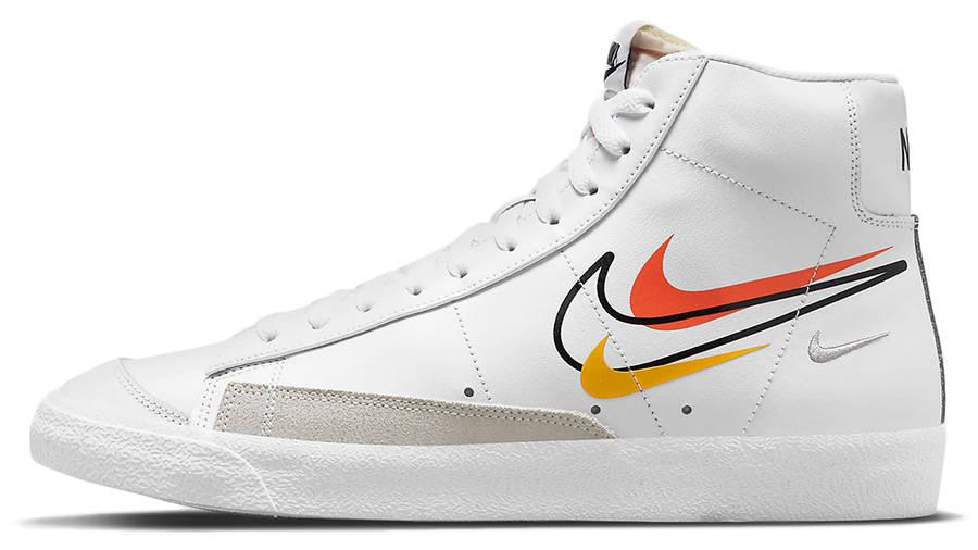 Nike Blazer Mid 77 Multi Swoosh White Team Orange DN7996-100