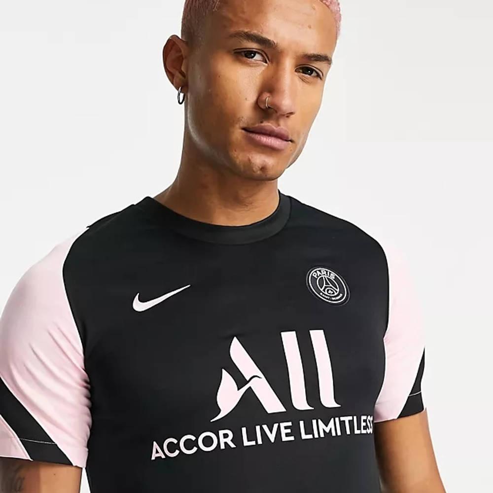 Nike Paris Saint-Germain Dri-FIT Strike T-Shirt Black Detail