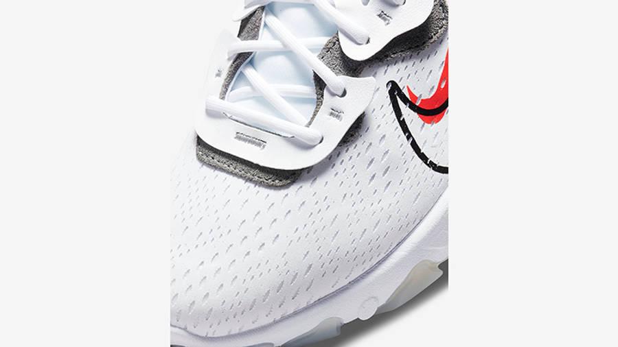 Nike React Vision Multi Swoosh White Smoke Grey DM9095-101 Detail