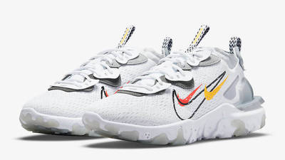 Nike React Vision Multi Swoosh White Smoke Grey DM9095-101 Side