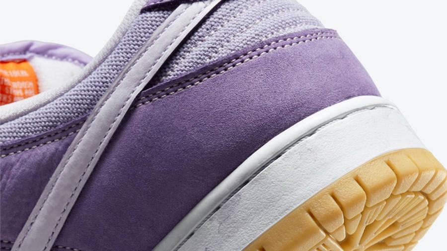 Nike SB Dunk Low Unbleached Pack Purple Closeup