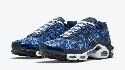 Nike TN Air Max Plus Blue Crinkled Metal DO6384-400 front