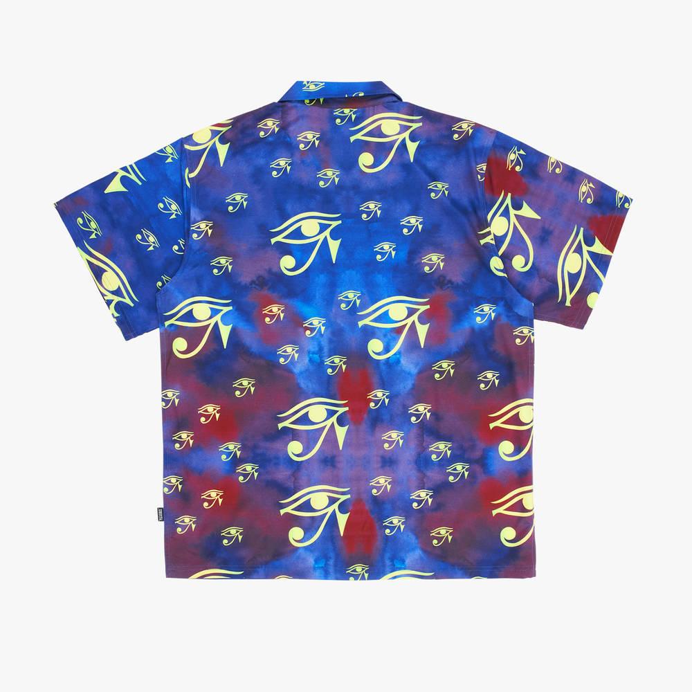 Pleasures Brendan Rayon Short-Sleeve Button Down Shirt P21SP004-PRPL Back