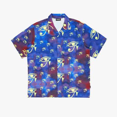 Pleasures Brendan Rayon Short-Sleeve Button Down Shirt P21SP004-PRPL