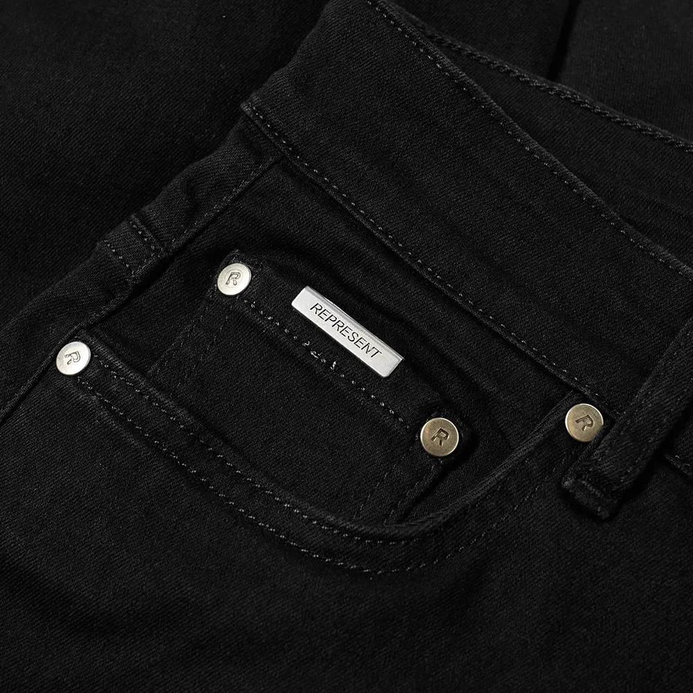 Represent Essential Jean Black Detail 2