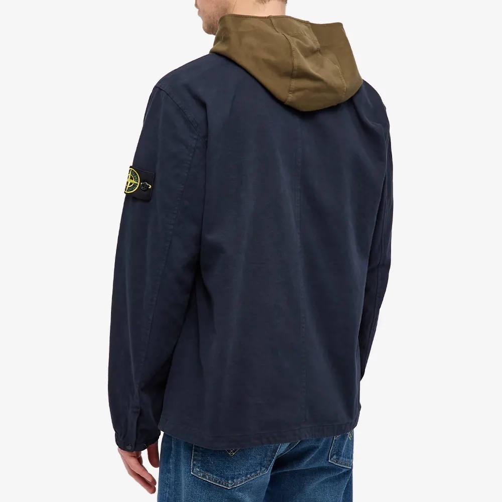 Stone Island Garment Dyed Zip Shirt Overshirt 751510704-V0020 Back