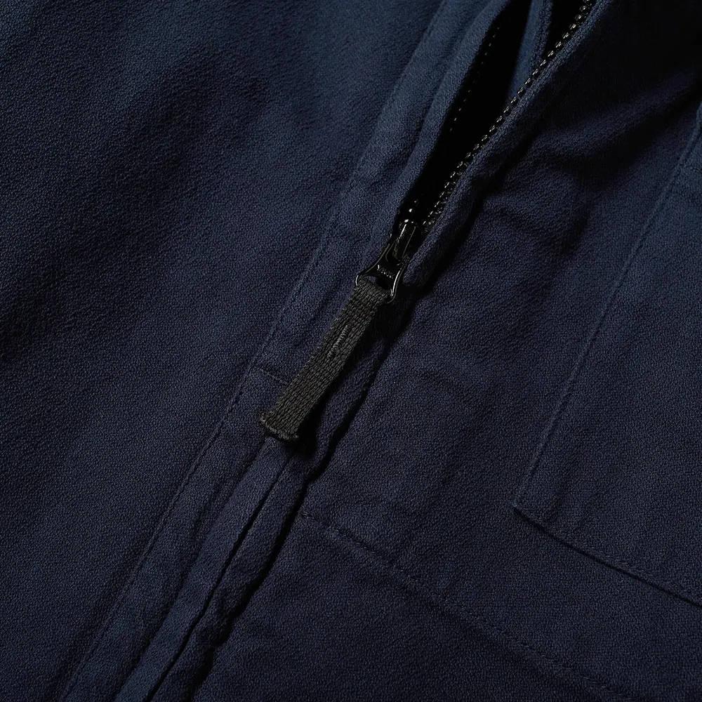 Stone Island Garment Dyed Zip Shirt Overshirt 751510704-V0020 Detail