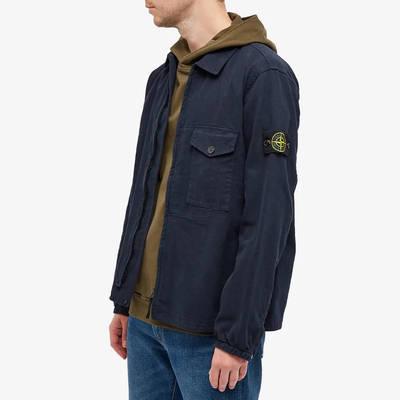 Stone Island Garment Dyed Zip Shirt Overshirt 751510704-V0020 Front