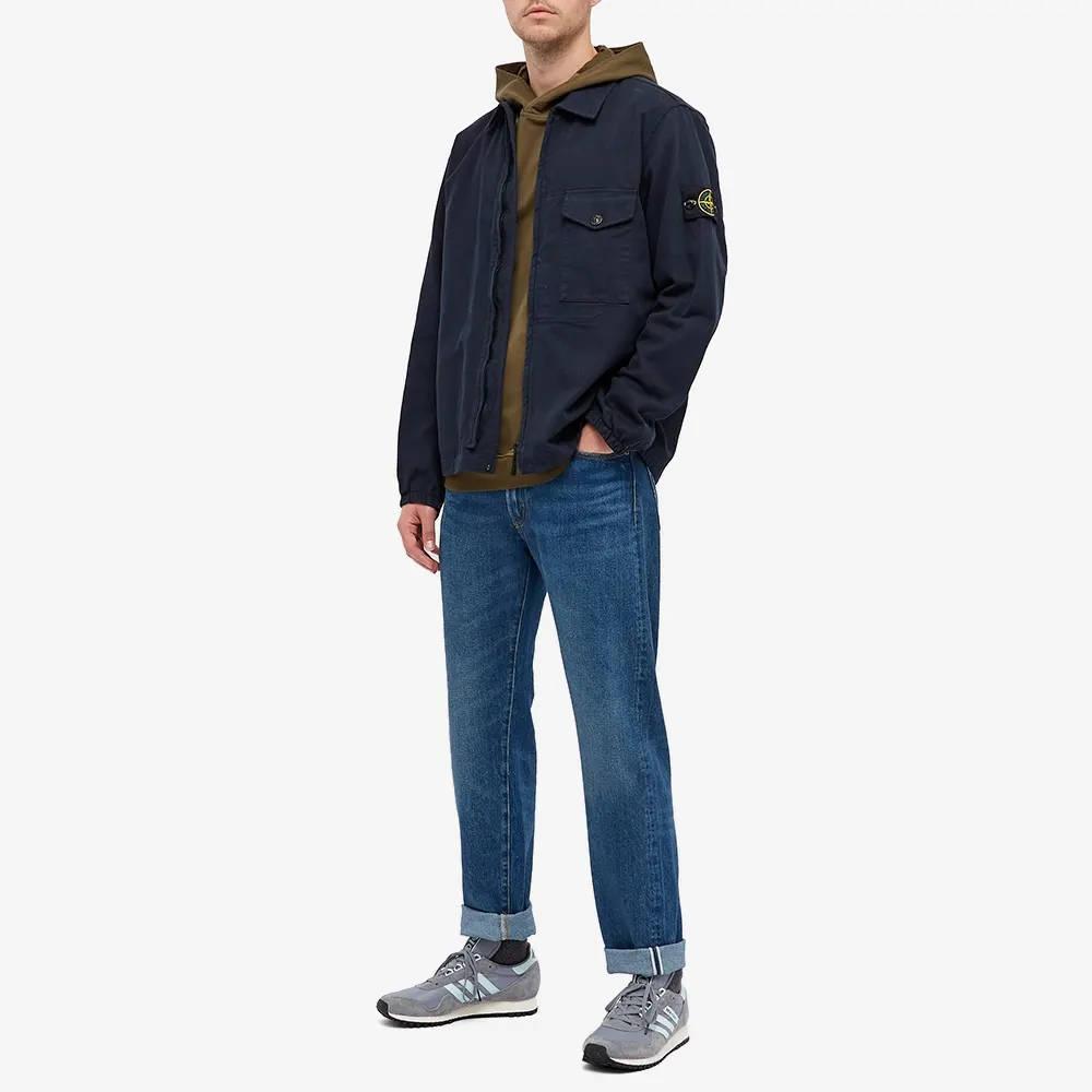 Stone Island Garment Dyed Zip Shirt Overshirt 751510704-V0020 Full