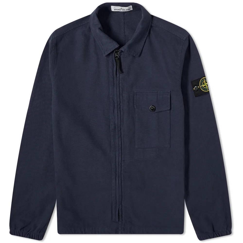 Stone Island Garment Dyed Zip Shirt Overshirt 751510704-V0020