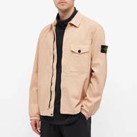 Stone Island Garment Dyed Zip Shirt Overshirt 751510704-V0082 Front