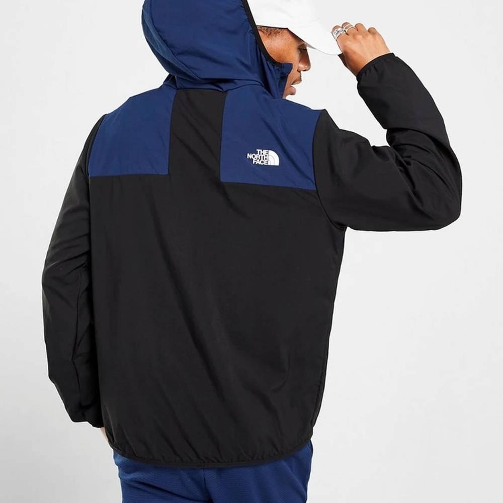 The North Face Tape Winbreaker Jacket Black Back