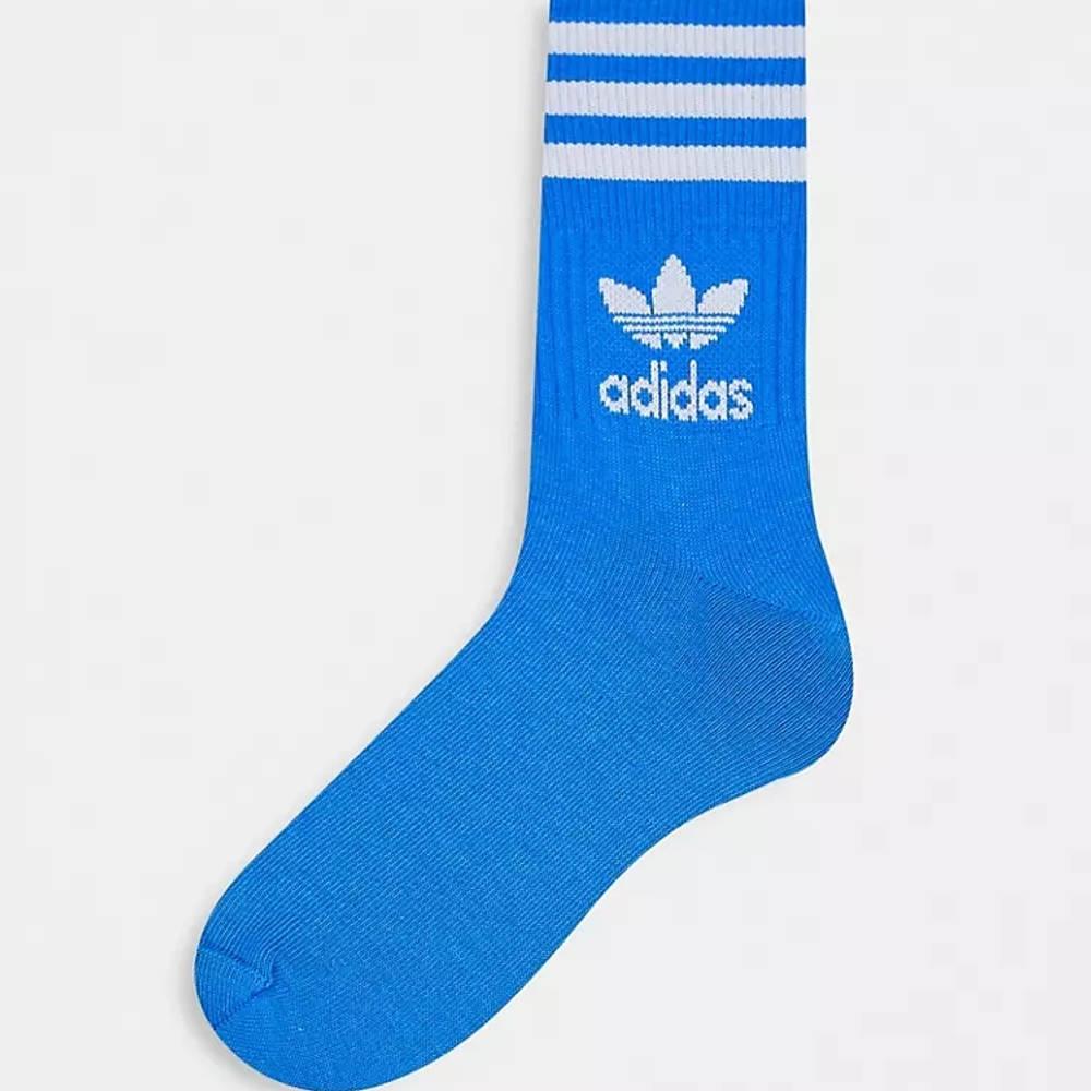 adidas Adicolor Trefoil Mid Cut Socks Blue Side