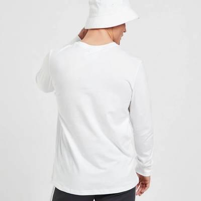 adidas Long Sleeve Outline T-Shirt White Back