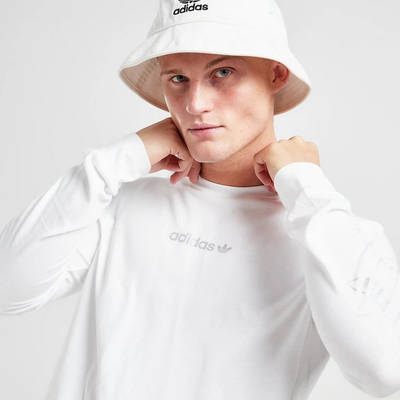 adidas Long Sleeve Outline T-Shirt White Detail