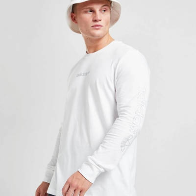 adidas Long Sleeve Outline T-Shirt White Front