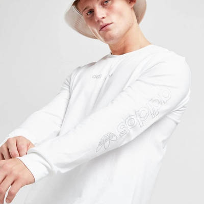 adidas Long Sleeve Outline T-Shirt White Side