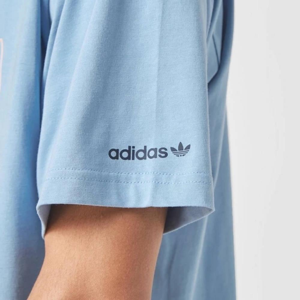 adidas Summer Trefoil T-Shirt Blue Detail 2