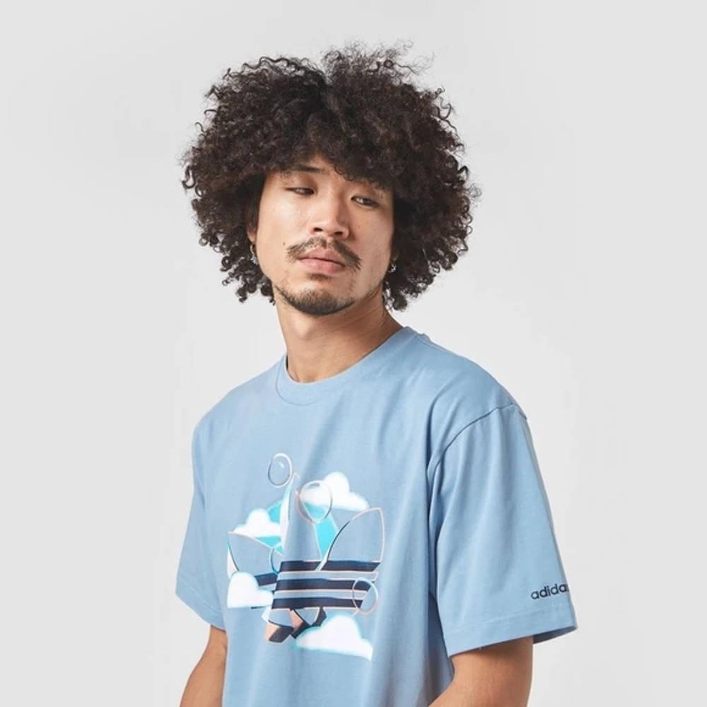 adidas Summer Trefoil T-Shirt Blue Detail