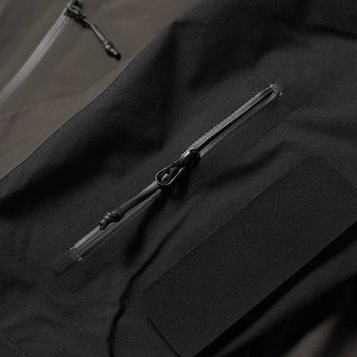 Arc'teryx System A Dume Coat Black Ash Detail 3