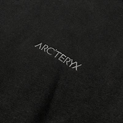 Arc'teryx Word Emblem Crew Sweatshirt Black Detail