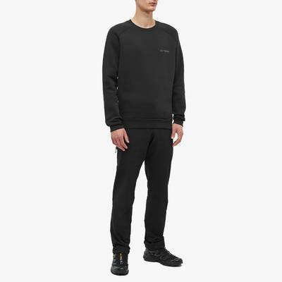 Arc'teryx Word Emblem Crew Sweatshirt Black Full