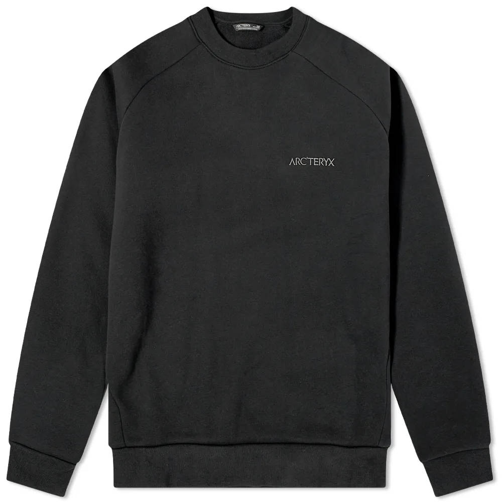 Arc'teryx Word Emblem Crew Sweatshirt Black