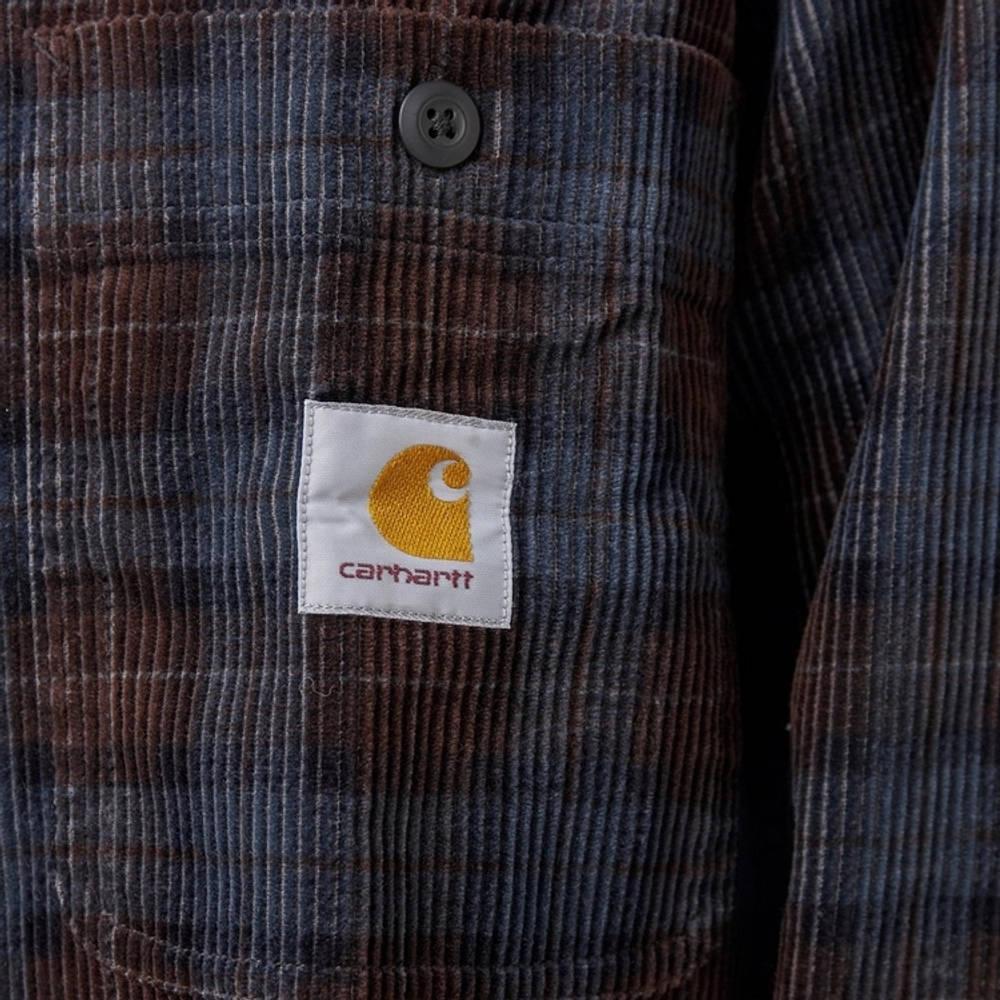 Carhartt Flint Cord Check Shirt Multi Detail