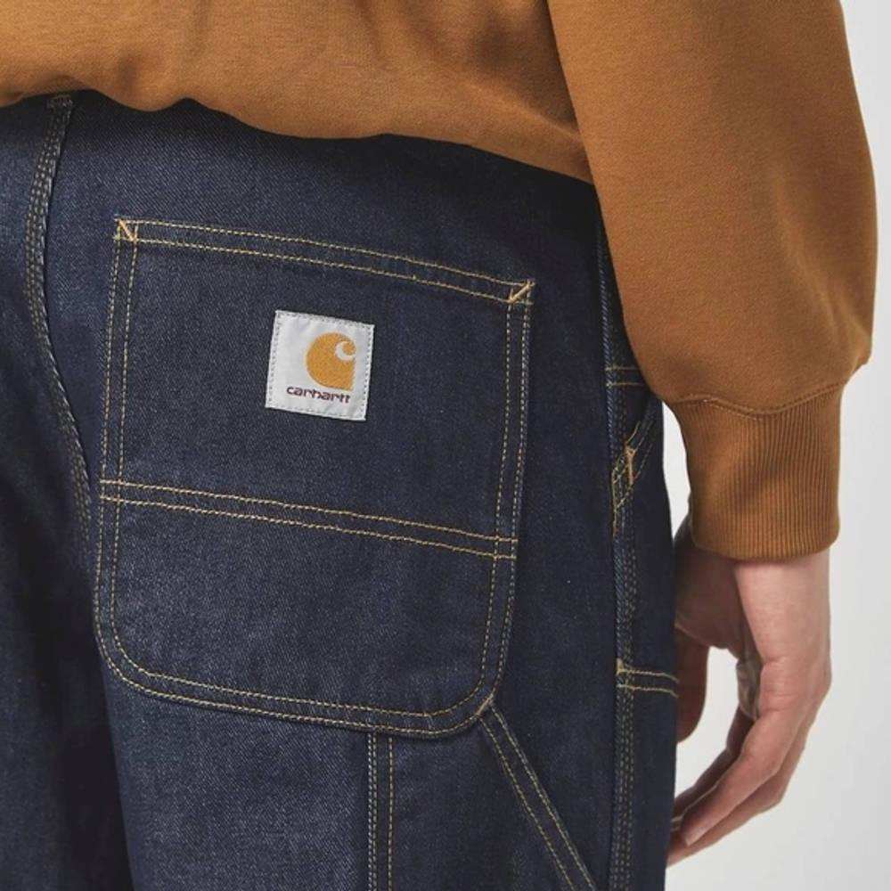 Carhartt WIP Double Knee Denim Mid Wash Jeans Blue Detail