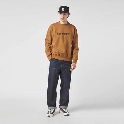 Carhartt WIP Double Knee Denim Mid Wash Jeans Blue Full