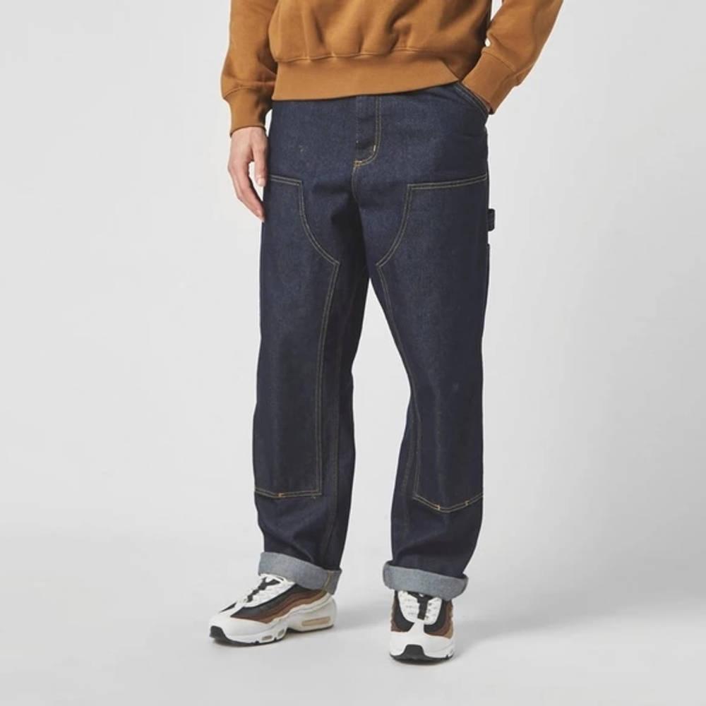Carhartt WIP Double Knee Denim Mid Wash Jeans Blue
