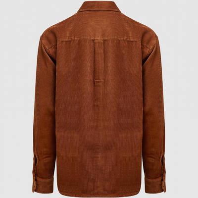 Carhartt WIP Long Sleeve Flint Shirt Brown Back