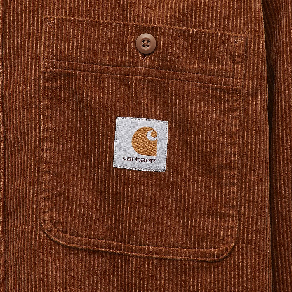 Carhartt WIP Long Sleeve Flint Shirt Brown Detail