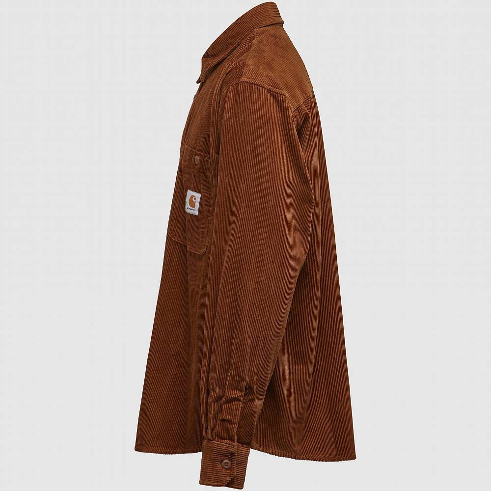 Carhartt WIP Long Sleeve Flint Shirt Brown Side