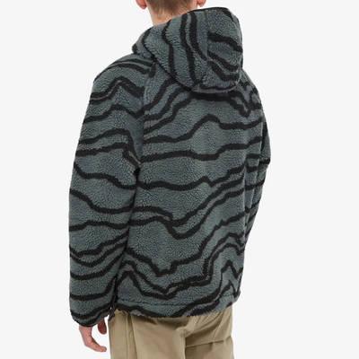 Carhartt WIP Prentis Pullover Hoodie Deep Freeze Jacquard Back
