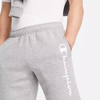 Champion Large Logo Shorts Grey Detail