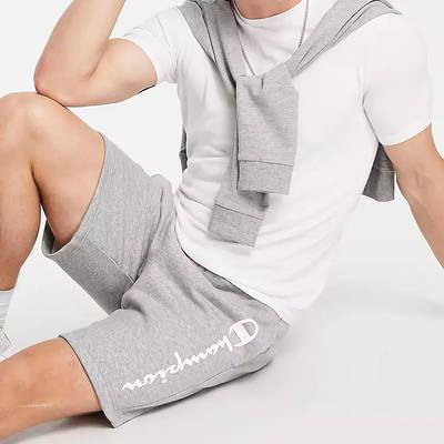 Champion Large Logo Shorts Grey Full